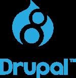 drupal 8 logo Stacked CMYK 300
